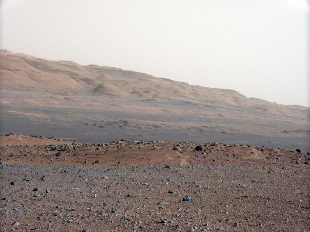 Vista de Mart del Curiosity
